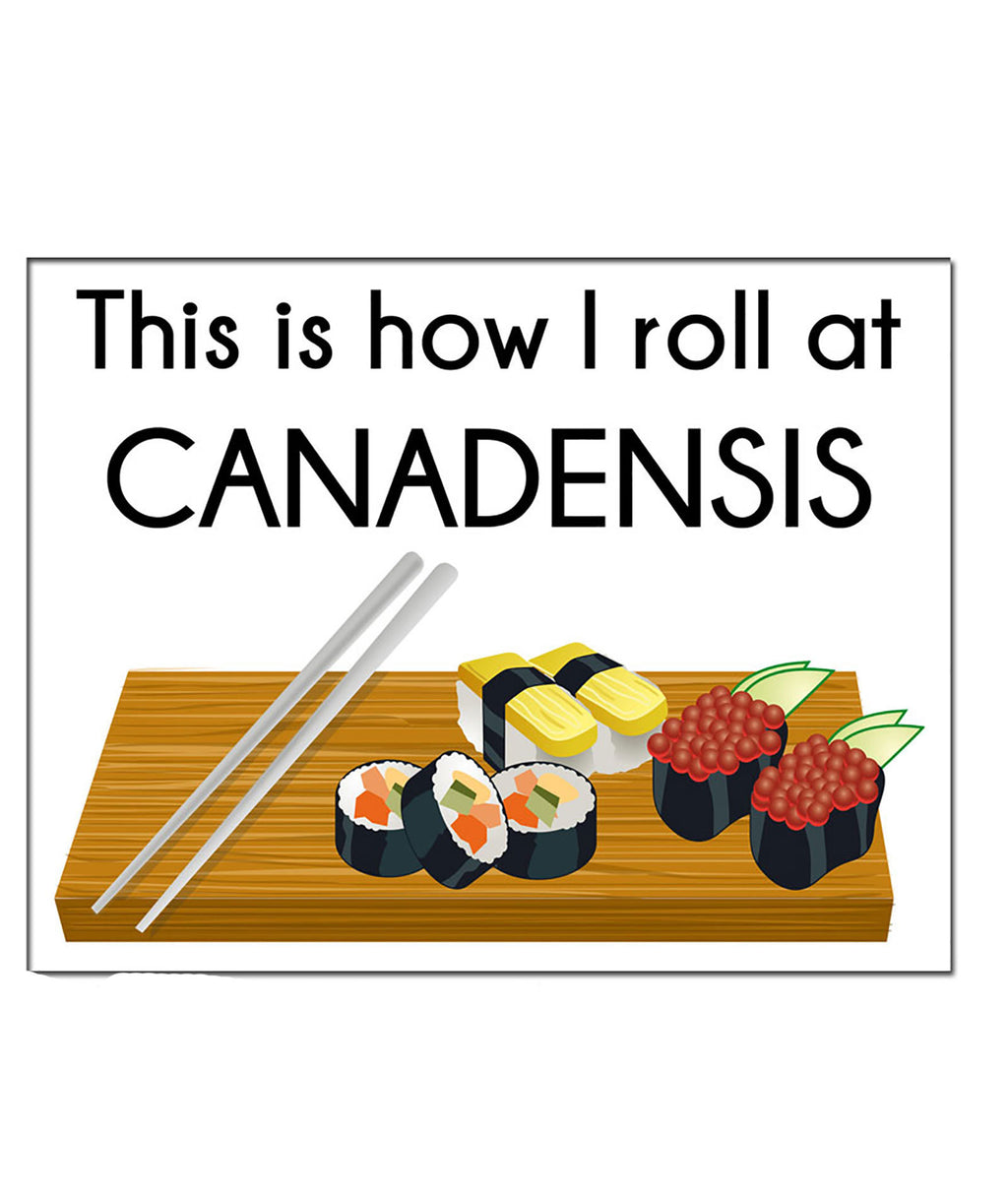 Pack of 10 Cards Camp Name Sushi