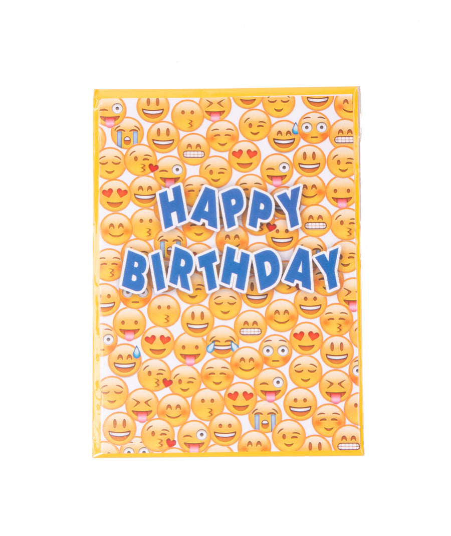 Happy Birthday Emoji Card