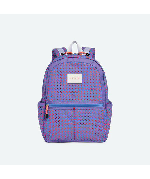 State Bags Kane Dusty Peri Perforated Hearts Backpack