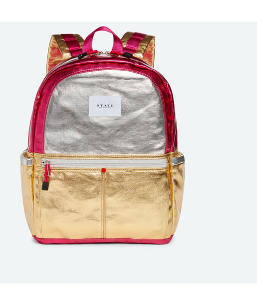 State Bags Kane Silver/Gold Backpack