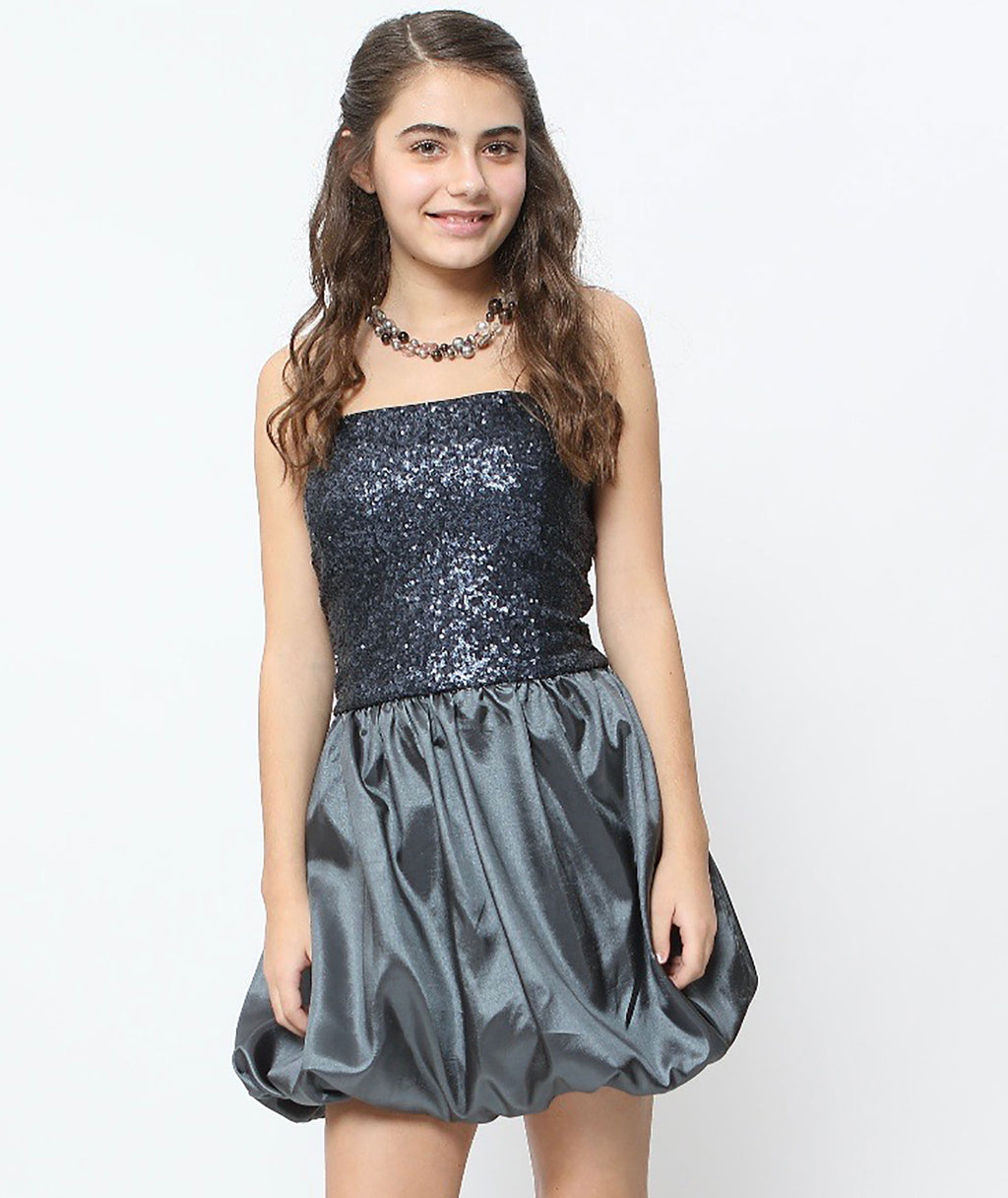 Stella M'Lia Girls Carbon Bimba Dress