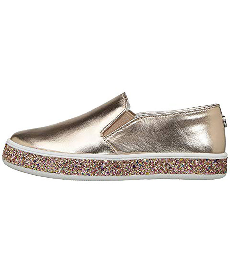 Steve Madden Girls Rose Gold Slip On Sneakers