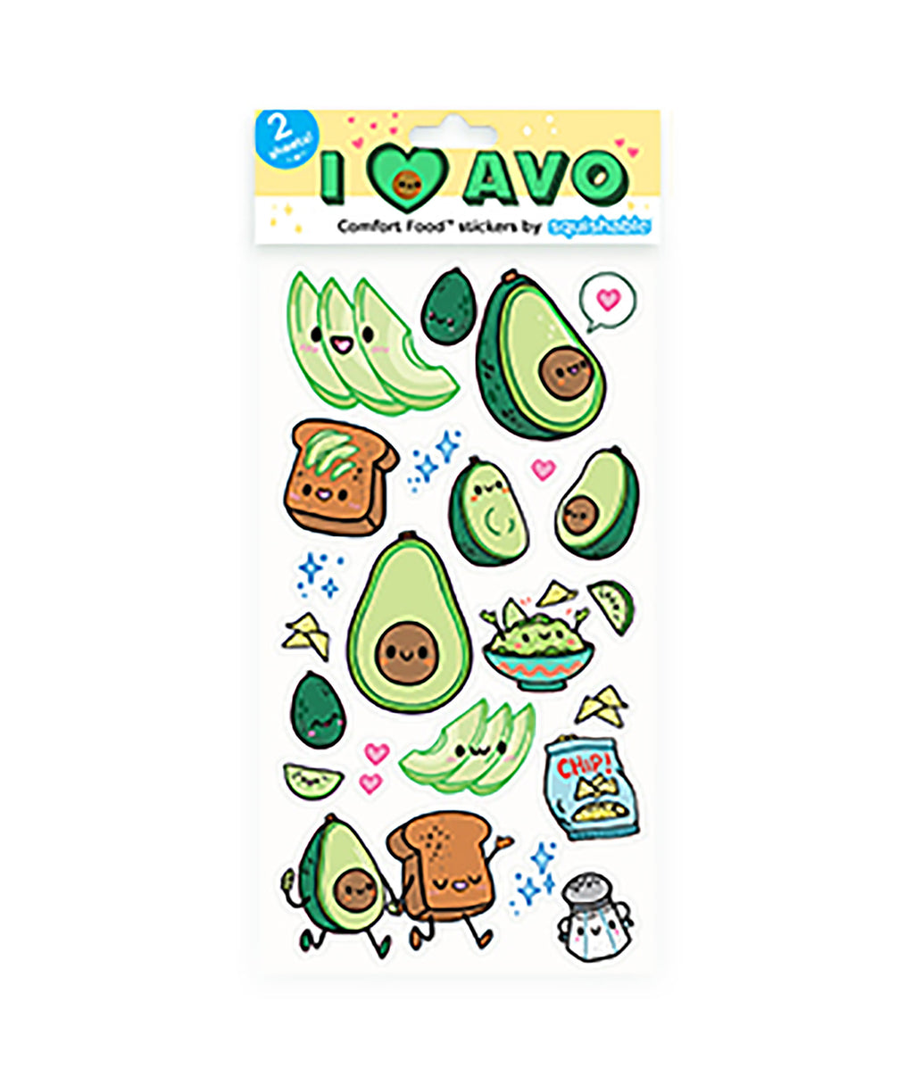 Squishable Sticker Sheet Avocado