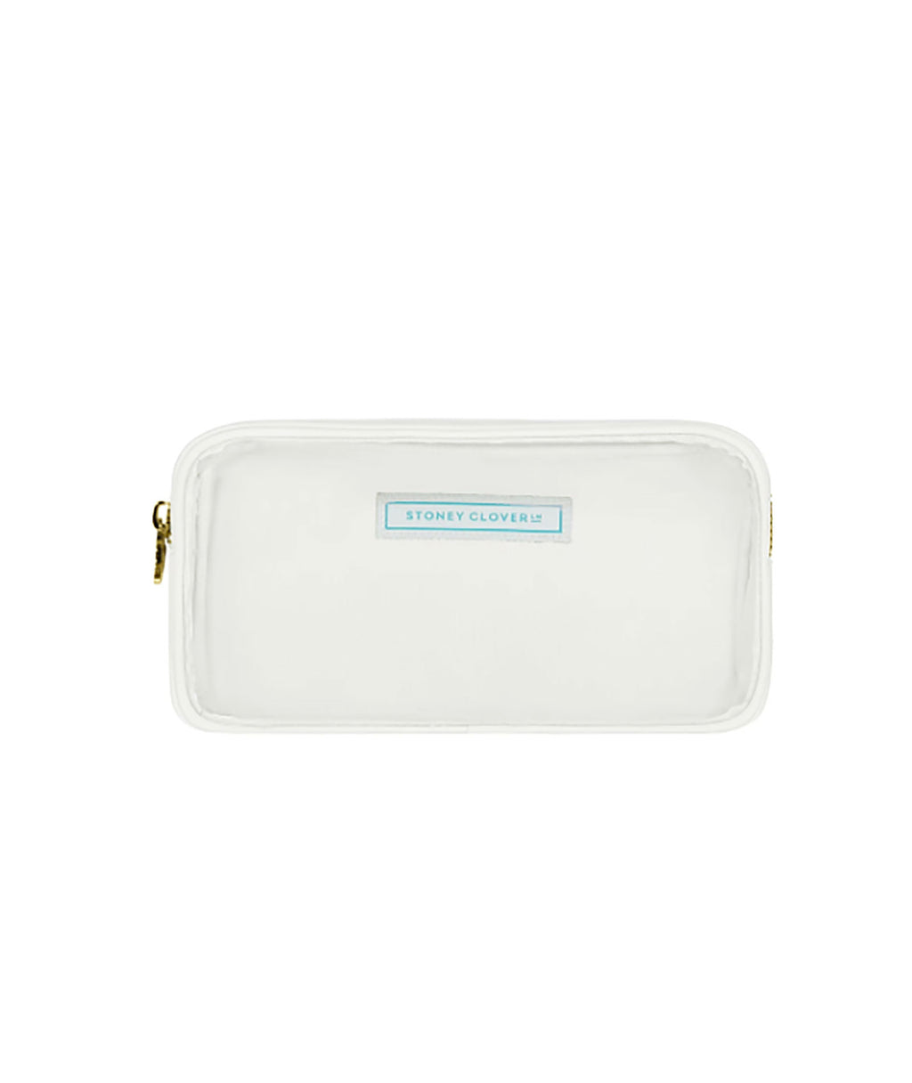 Stoney Clover Small Blanc Clear Pouch