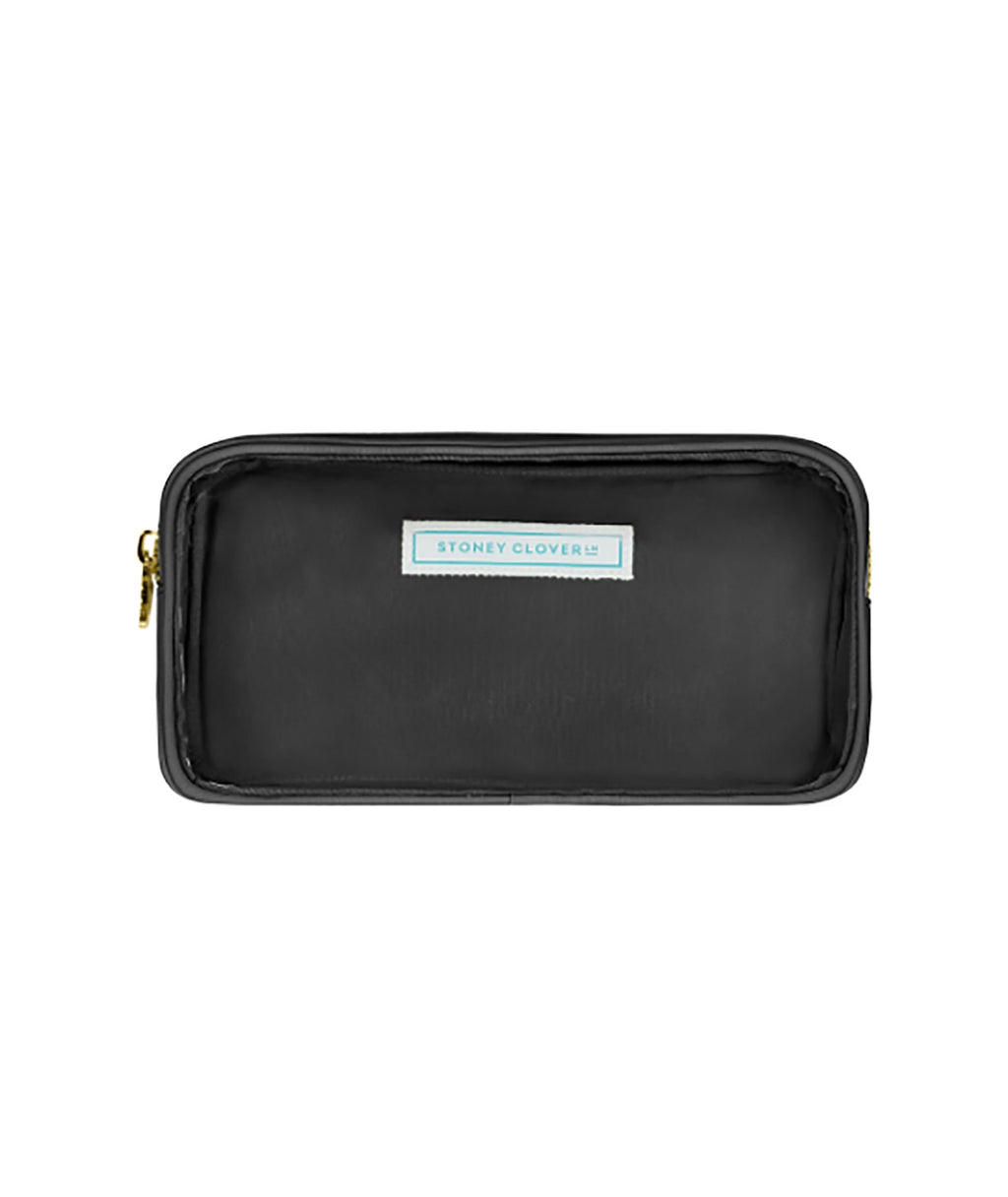 Stoney Clover Small Noir Clear Pouch