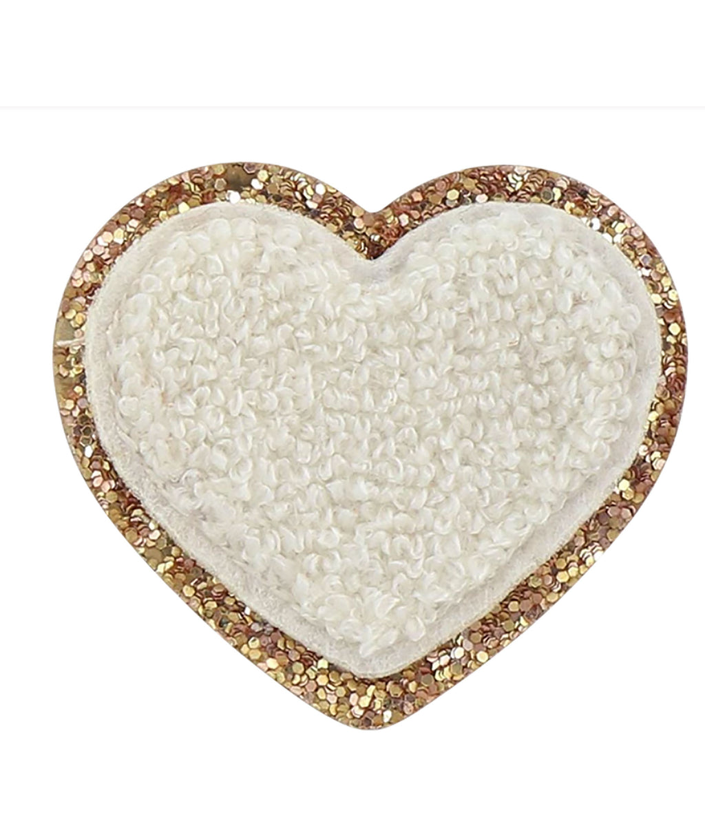 Stoney Clover Blanc Glitter Heart Patch