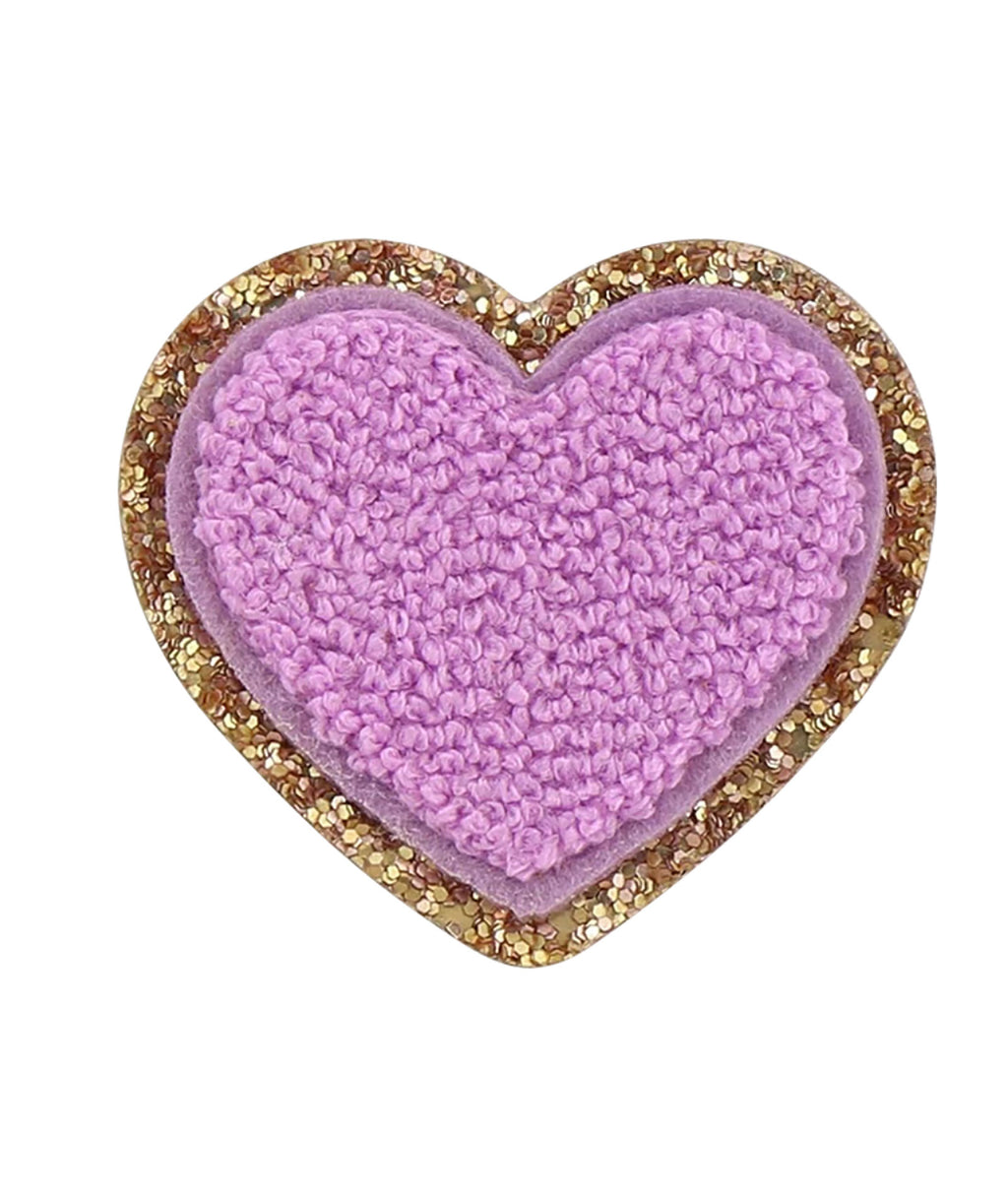 Stoney Clover Grape Glitter Heart Patch