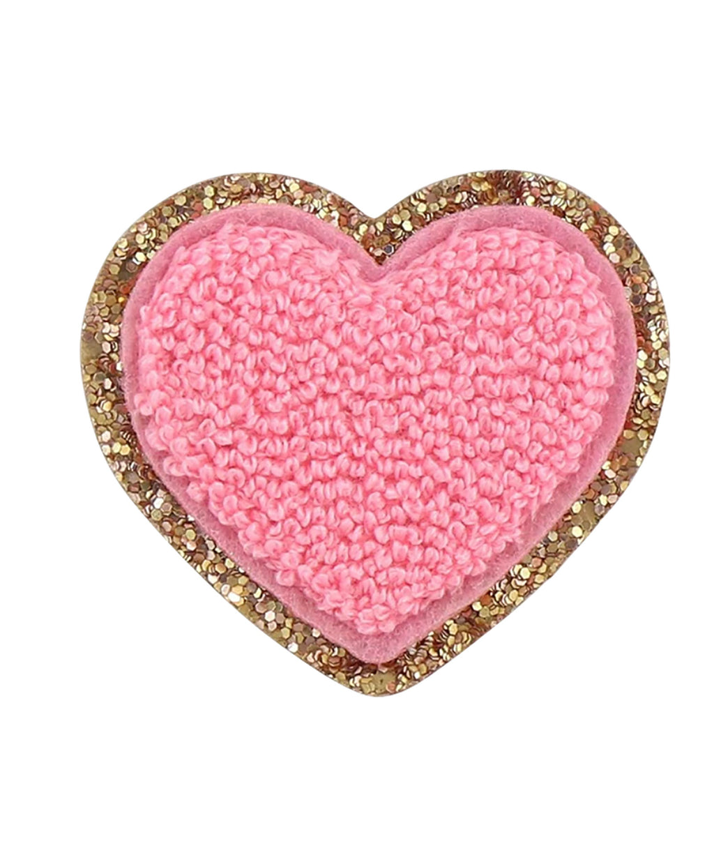 Stoney Clover Guava Glitter Heart Patch