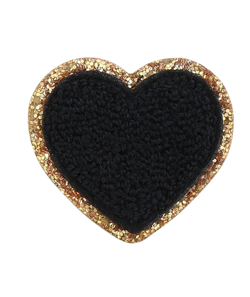 Stoney Clover Noir Glitter Heart Patch