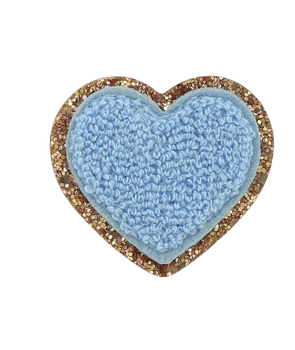 Stoney Clover Periwinkle Glitter Heart Patch