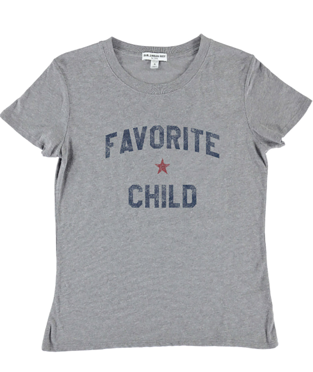 Sub_Urban Riot Girls Heather Grey Favorite Child Tee