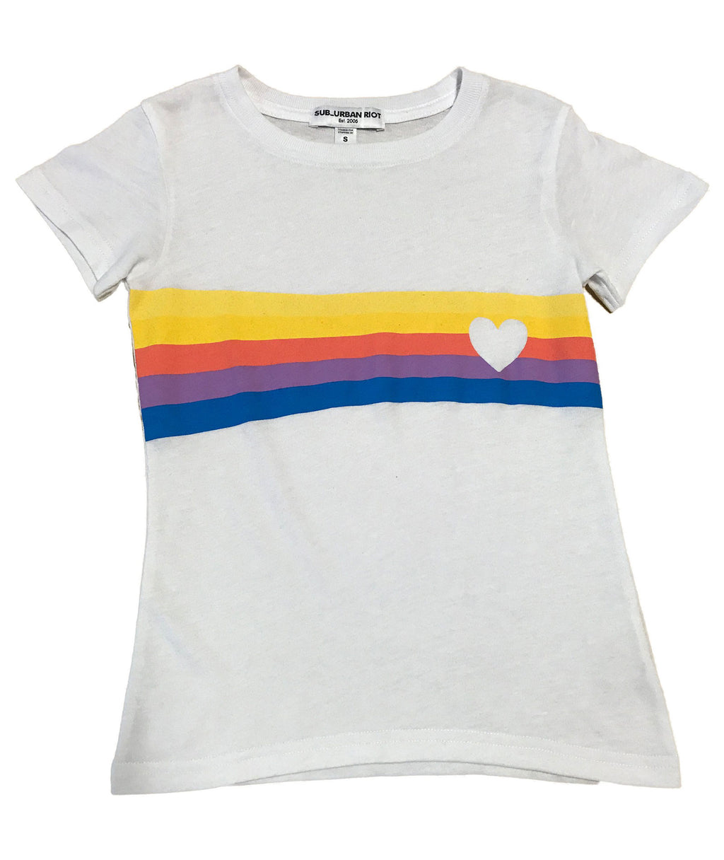 Sub_Urban Riot Girls Heart Stripe Tee