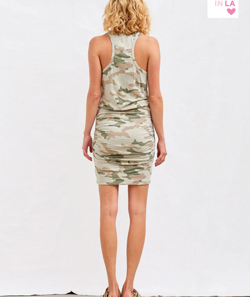 Sundry Women Camo Tank Dress