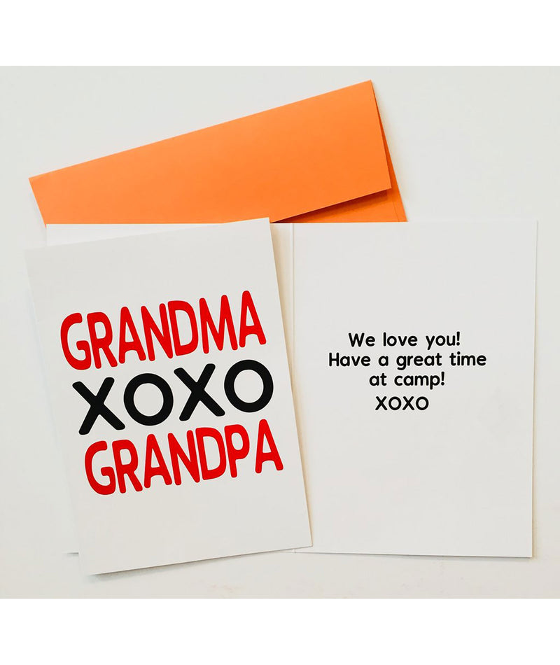 Grandparents Camp Card