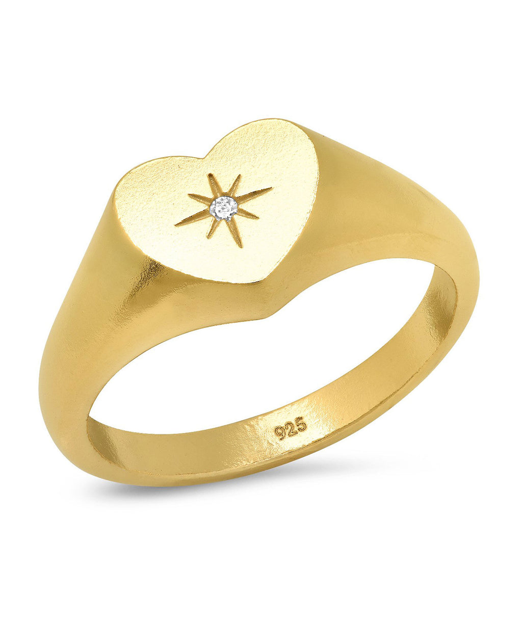 TAI Gold Heart Ring