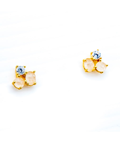 TAI Gold Cluster Earrings