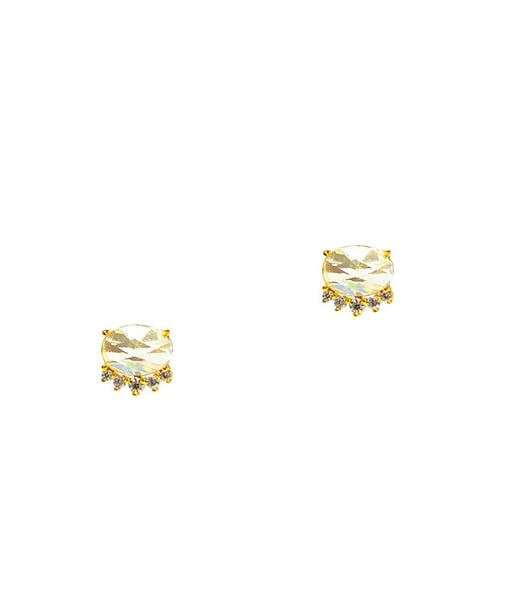 TAI Gold Clear Stone Earrings