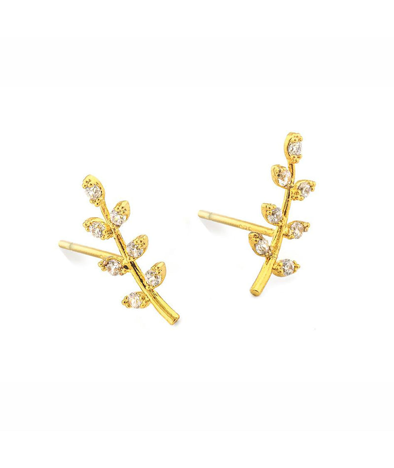 TAI Gold Leaf Stud Earring - Frankie's on the Park