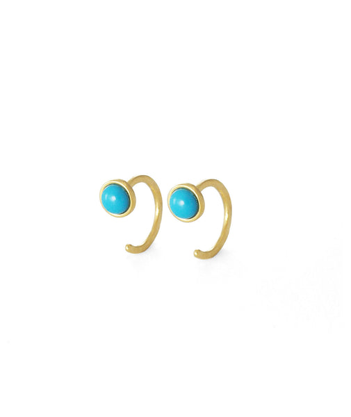TAI Turquoise Huggie Earrings