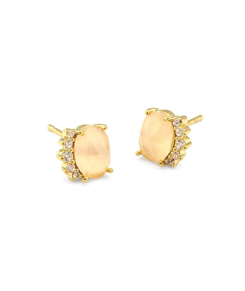 Tai Stone Post Earrings
