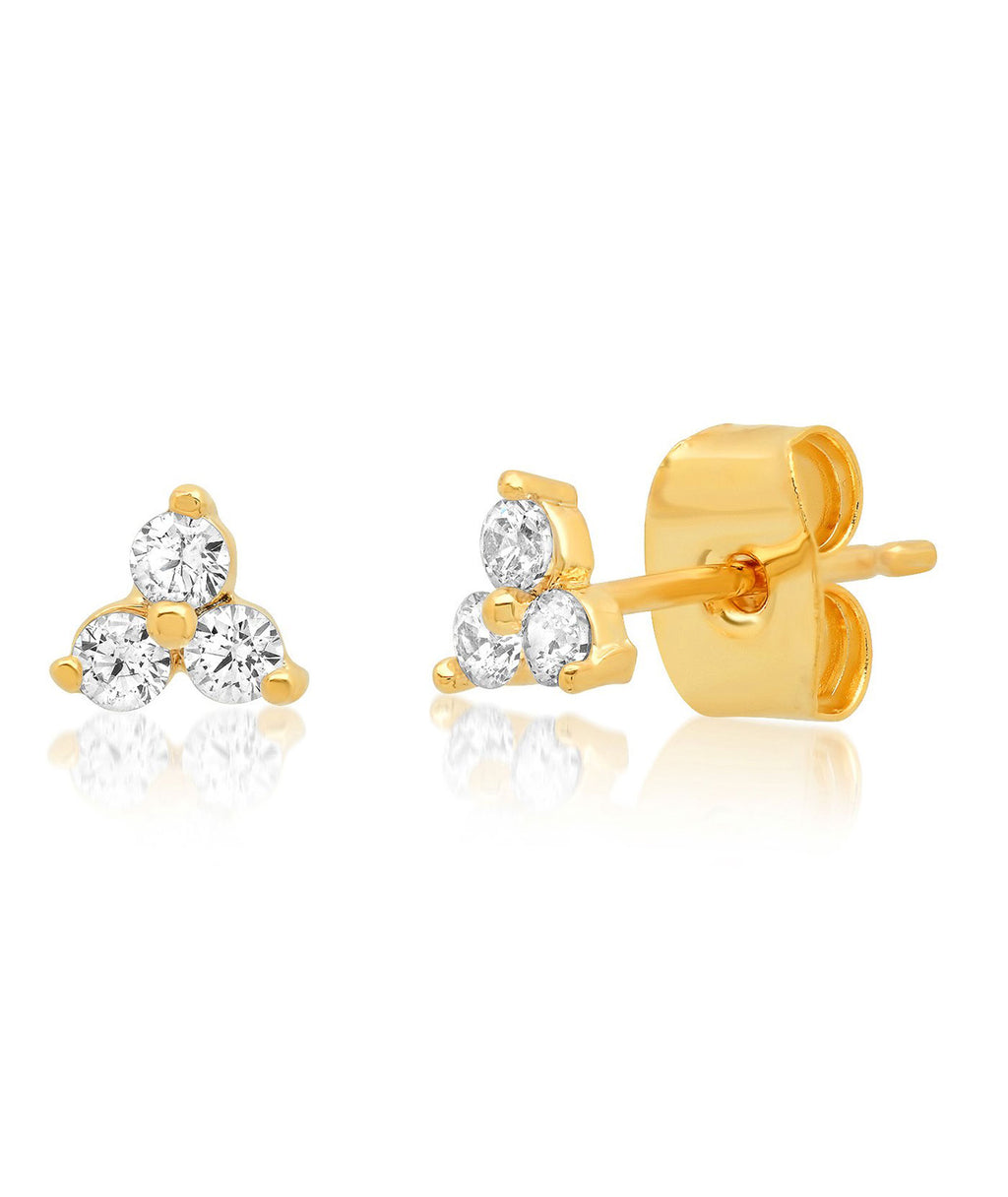 TAI Gold Cluster Stud Earrings