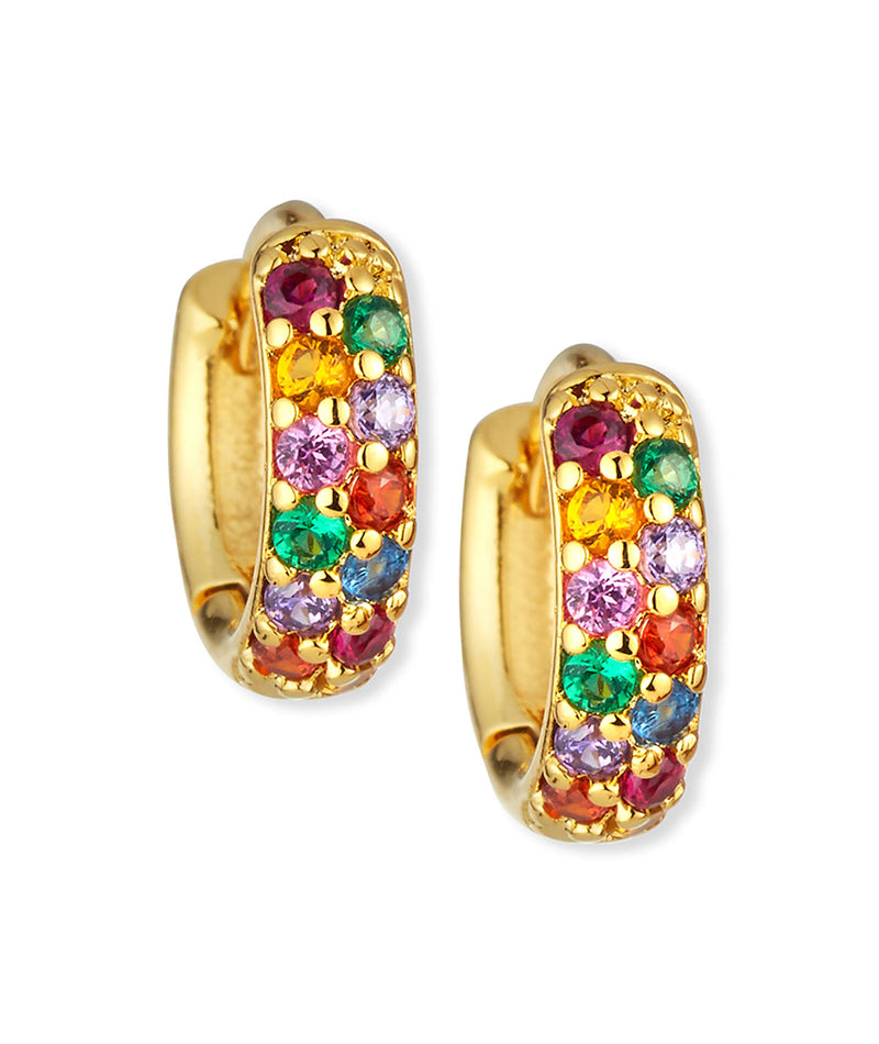 TAI Double Rainbow Hoop Earrings