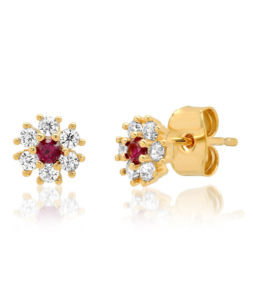 TAI Mini Flower Ruby Stud