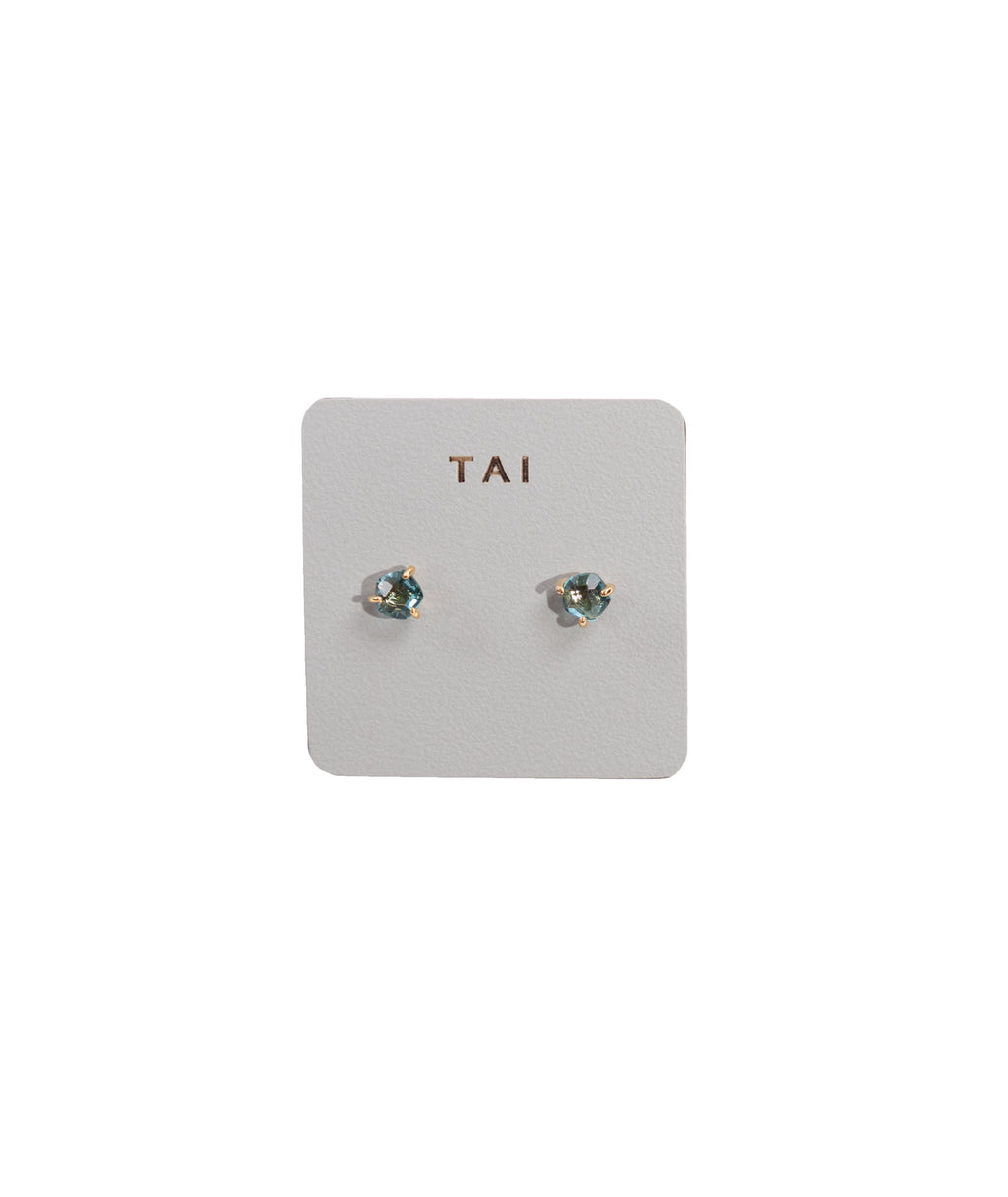 TAI Aqua Glass Stud Earrings