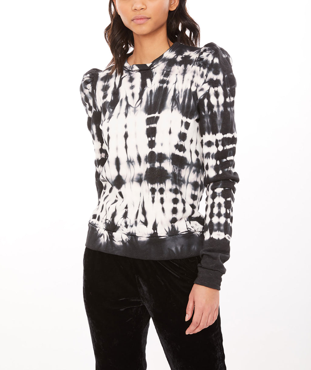 Generation Love Women Natasha Black & White Tie-Dye Sweatshirt