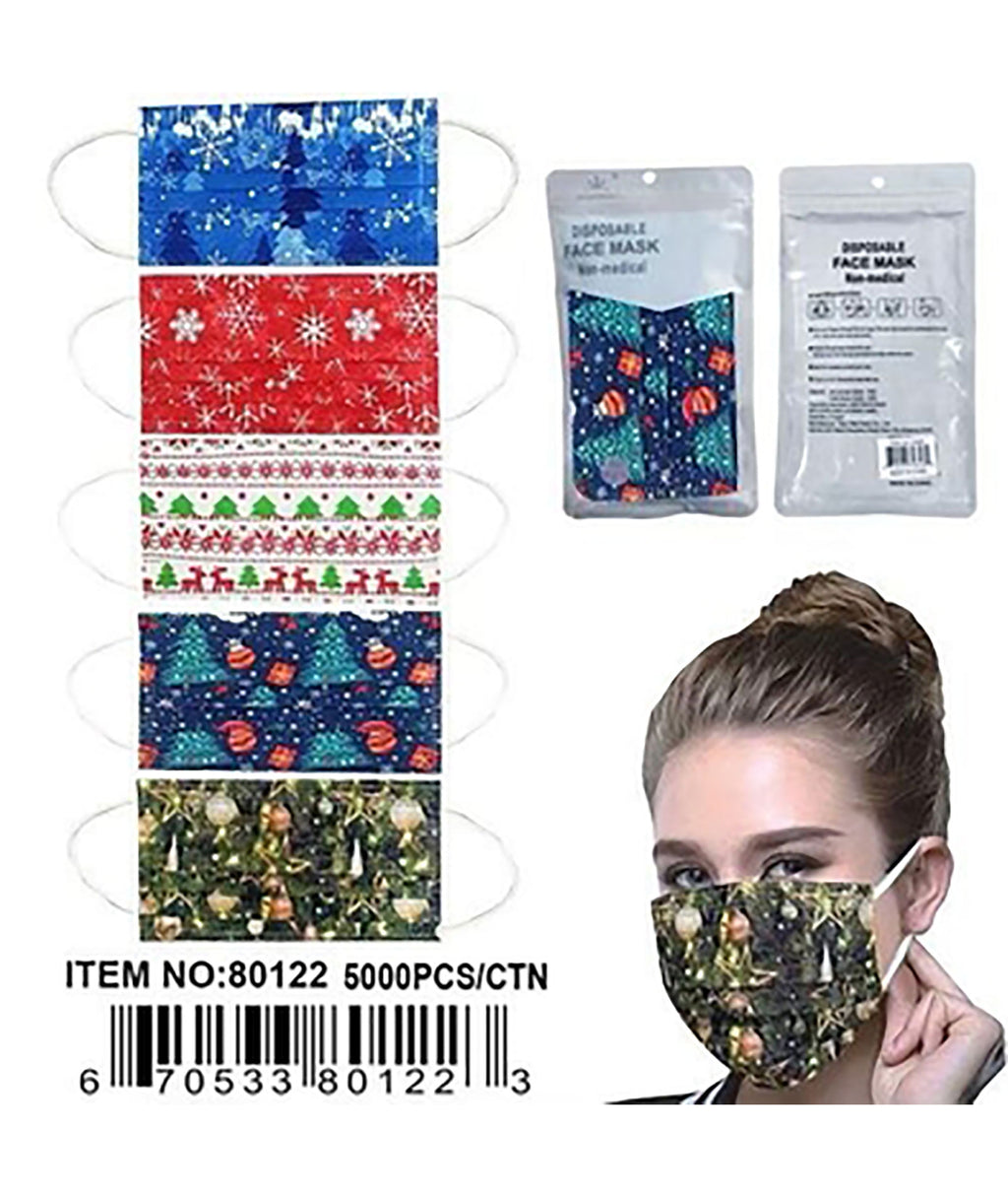 Confetti & Friends 10 Pack Disposable Masks Christmas