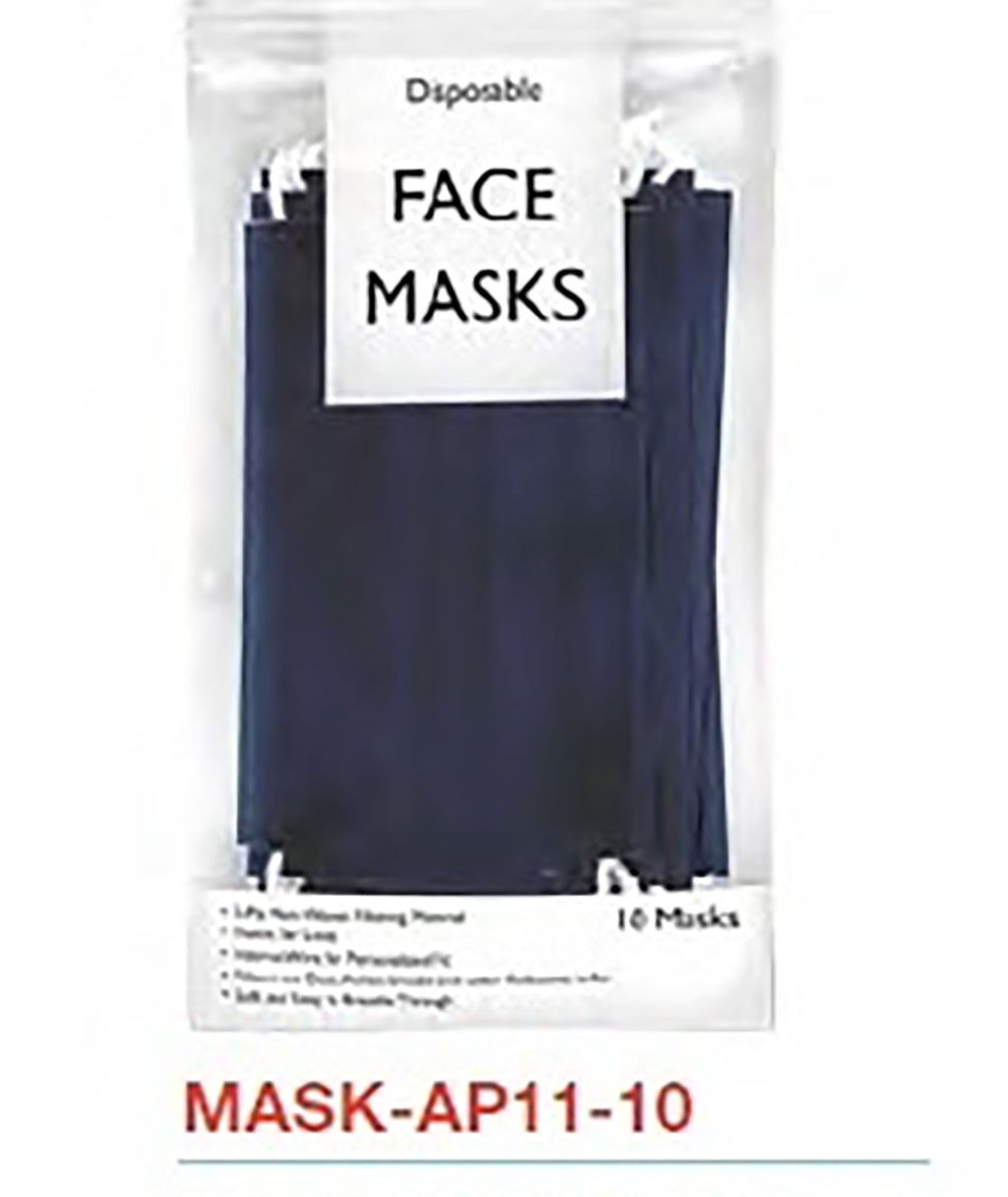 Confetti & Friends 10 Pack Disposable Masks Navy