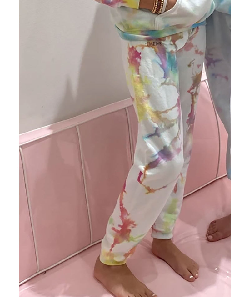 Theme-NYC Girls Neon Rainbow Sweatpants