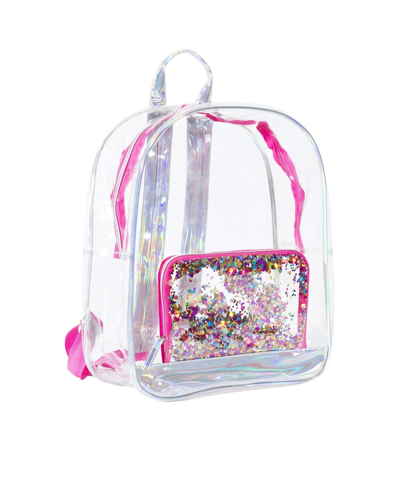 Three Cheer for Girls Clear Confetti Backpack