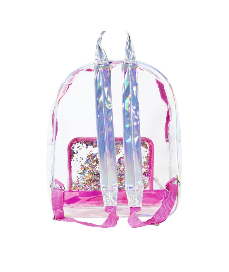 Clear Confetti Backpack