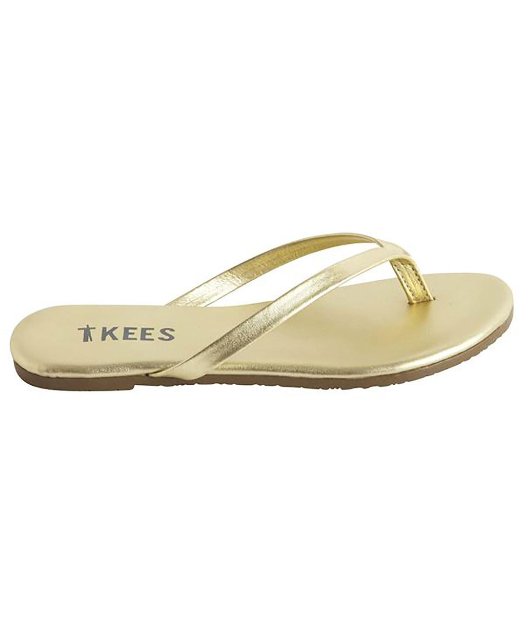 Tkees Girls Gold Blink Flip Flops - Frankie's on the Park