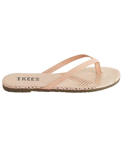Tkees Girls Pink Comet Flip Flops