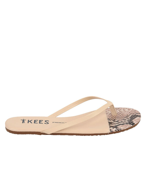 Tkees Womens Rattle Bone French Tips Flip-Flop