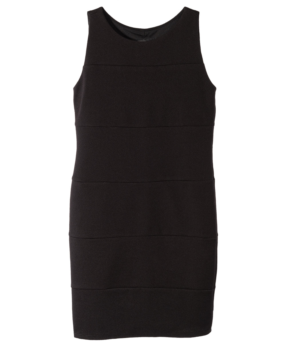 Un Deux Trois Girls Black Body Con Dress