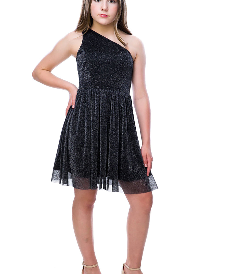 By Debra Girls Black Lace Fit Flare Dress