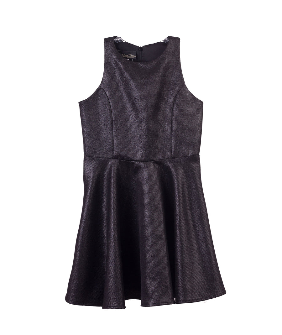 f681340f2134 Un Deux Trois | Girls Black Sparkle Dress | Frankie's on the Park