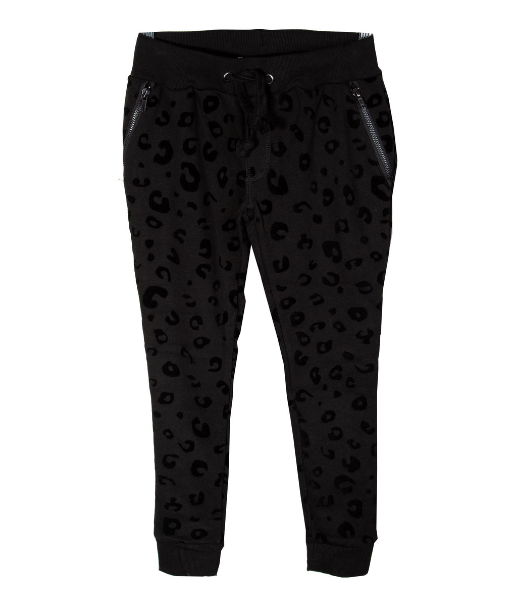 Vintage Havana Girls Velvet Animal Print Jogger Pants