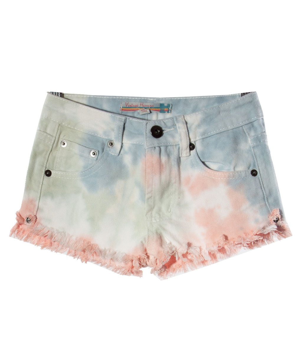Vintage Havana Girls Pastel Denim Shorts