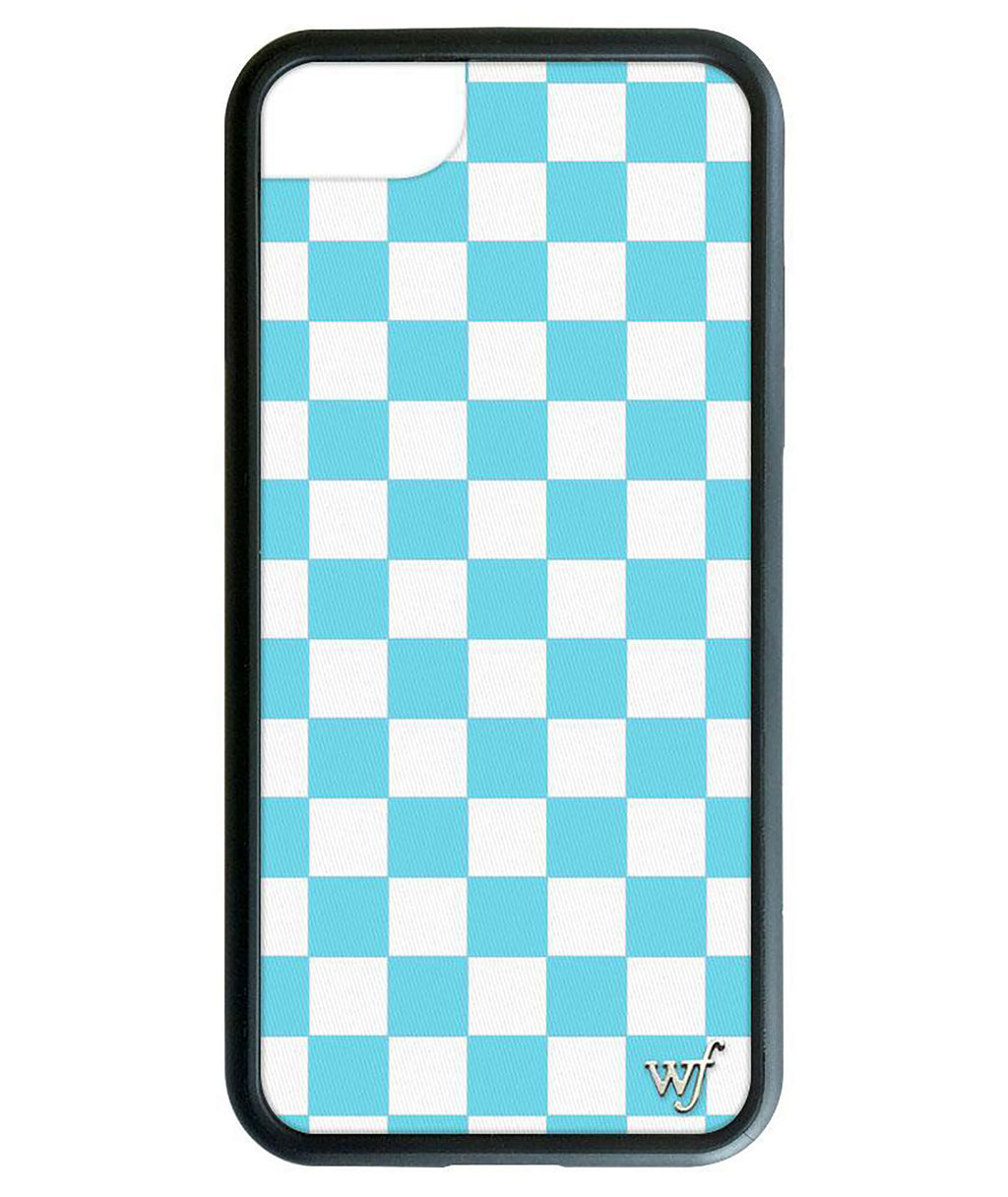 Wildflower Phone Case Blue Checkers