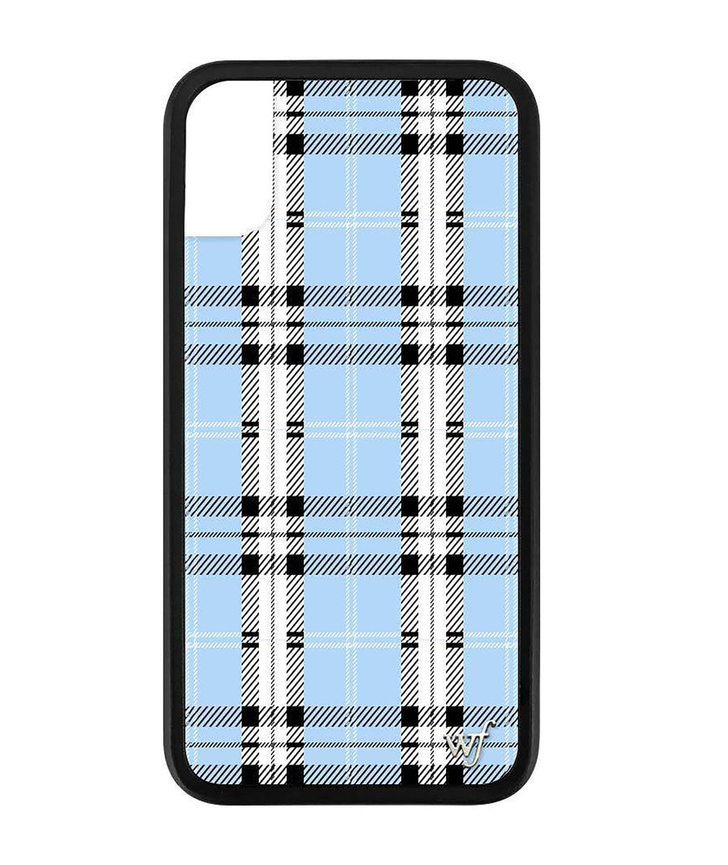Wildflower Phone Case Blue Plaid