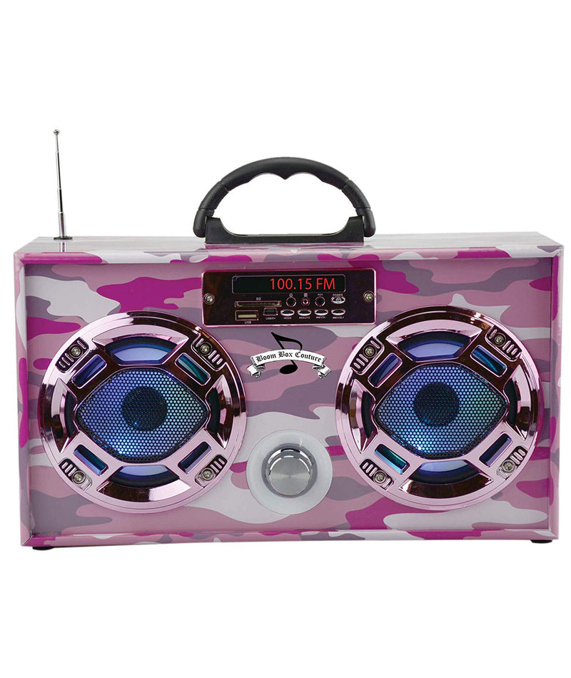 Wireless Express Boombox Pink Camo
