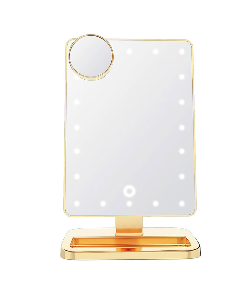Wireless Express LED Bluetooth Mirror Gold