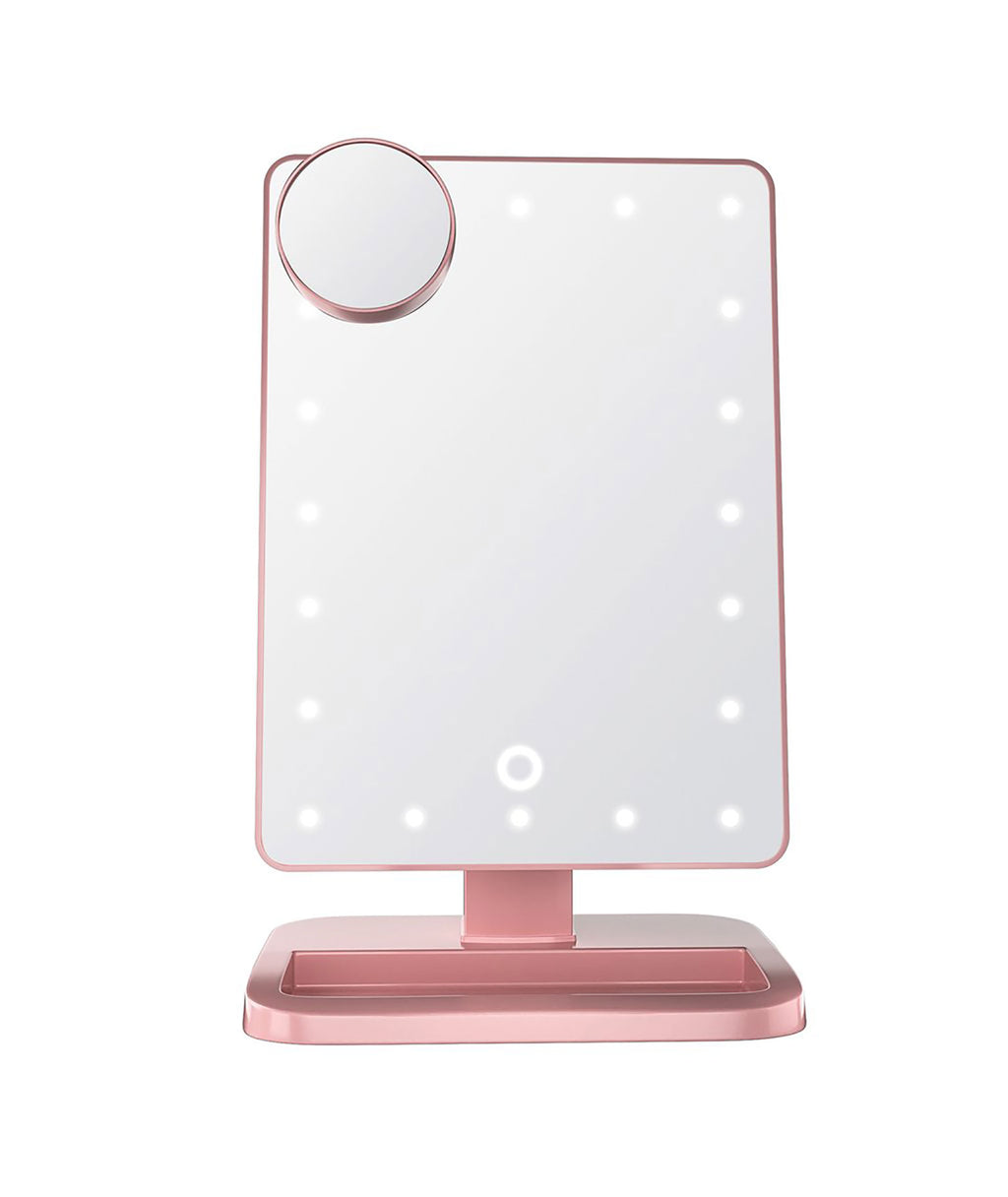 Wireless Express LED Bluetooth Mirror Rose Gold