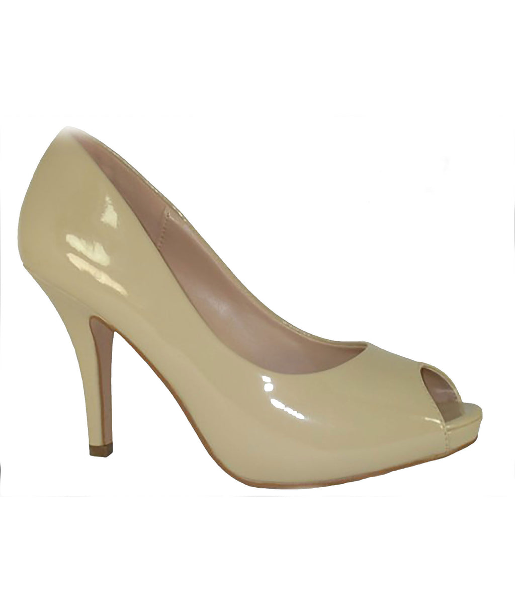 Your Party Shoes Womens Charlotte Nude Heels - Frankie's on the Park