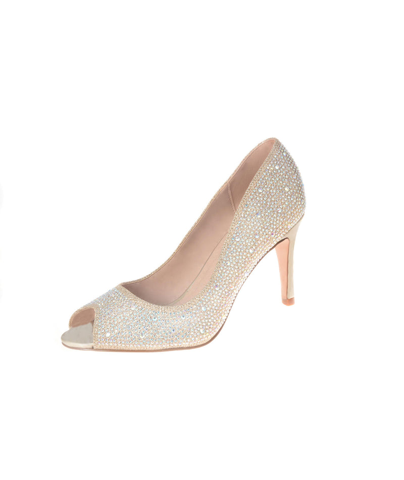 Your Party Shoes Womens Charlotte Nude Heels