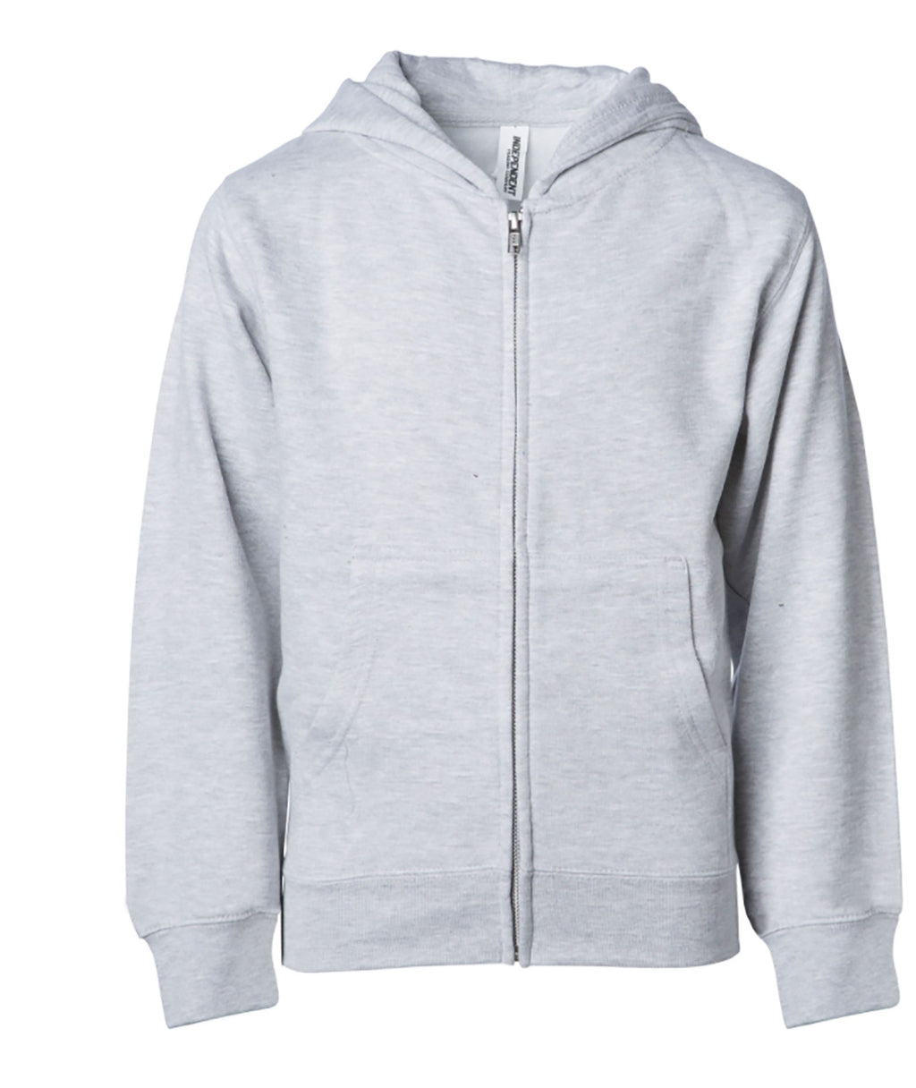 Gildan Adult Zip Up Hoodie in White, Grey or Light Grey